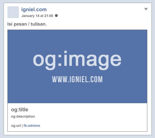 Cara Memasang Kode Meta Tag Facebook Open Graph