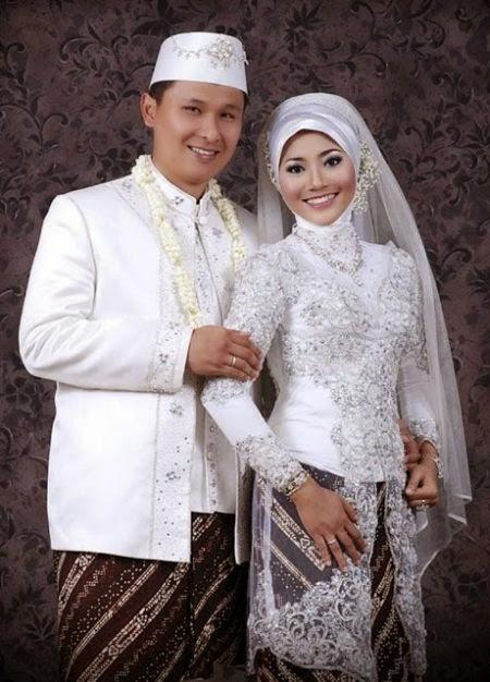 gaun pengantin muslimah modern warna pink
