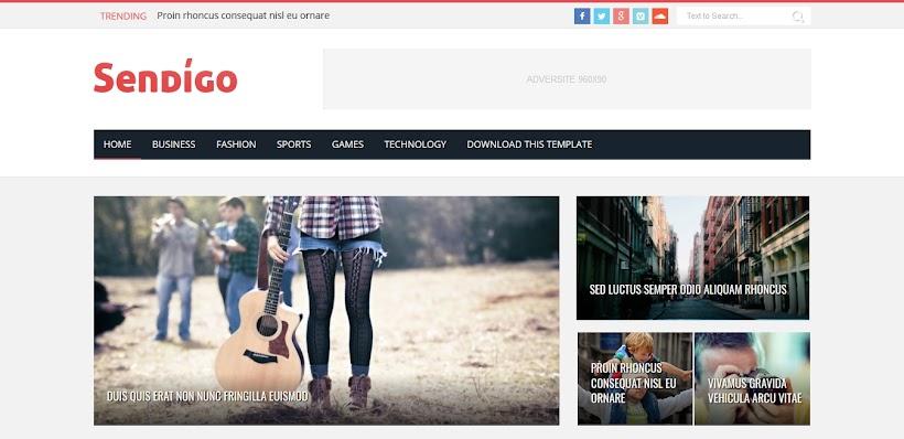 Sendigo Free Blogger Template