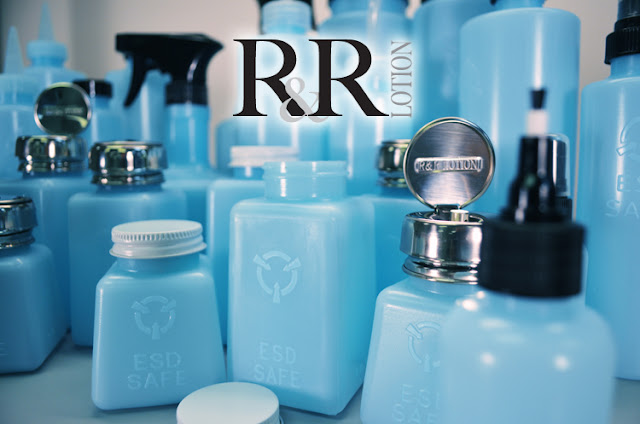 R&R Lotion's line of ESD-safe Bottles and Dispensers