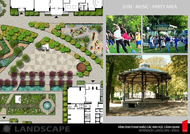Phân khu tiện ích Iris Garden