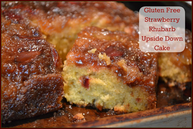 Gluten Free Strawberry Rhubarb Upside Down Cake
