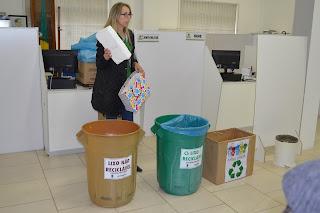 Servidores recebem capacitação sobre coleta seletiva