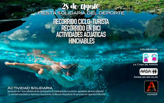 vista parcial cartel anunciador de la actividad deportiva. IMAGEN ILLESCAS COMUNICACIÓN