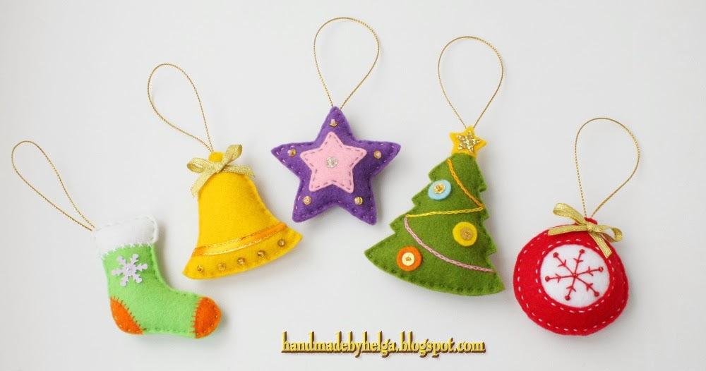 Handmade By Helga Assorted Felt Christmas Tree Ornaments