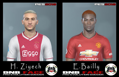 PES 2019 Faces Eric Bailly & Hakim Ziyech by DNB