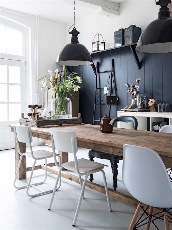 cocina rustica con mesa de madera chicanddeco