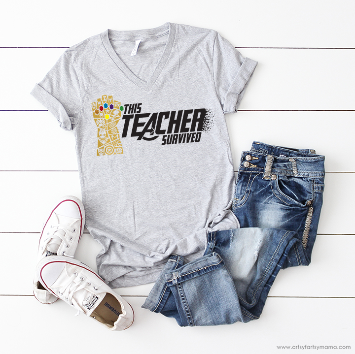 Avengers Teacher Shirt with Free Cut File