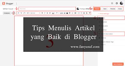 Tips Menulis Artikel yang Baik di Blogger
