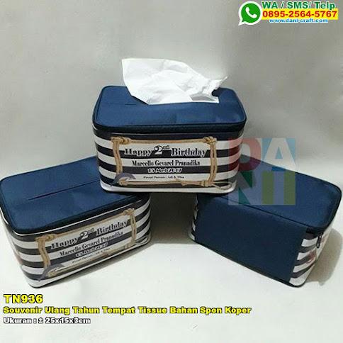 Souvenir Ulang Tahun Tempat Tissue Bahan Spon Koper