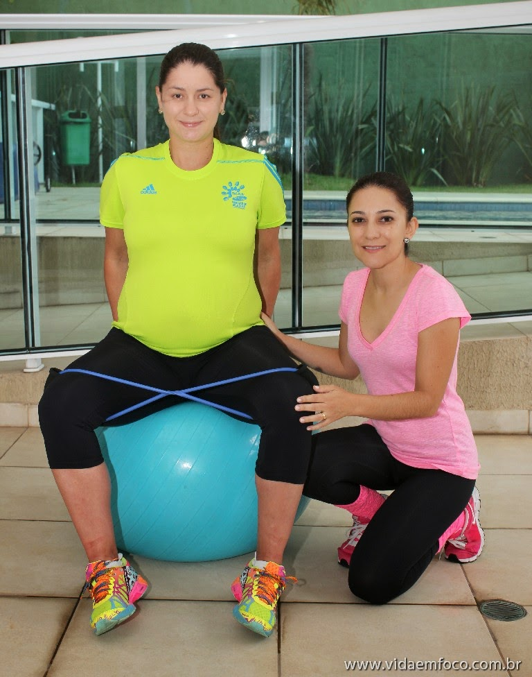 Exercícios na gravidez com personal gestante - by Gizele Monteiro