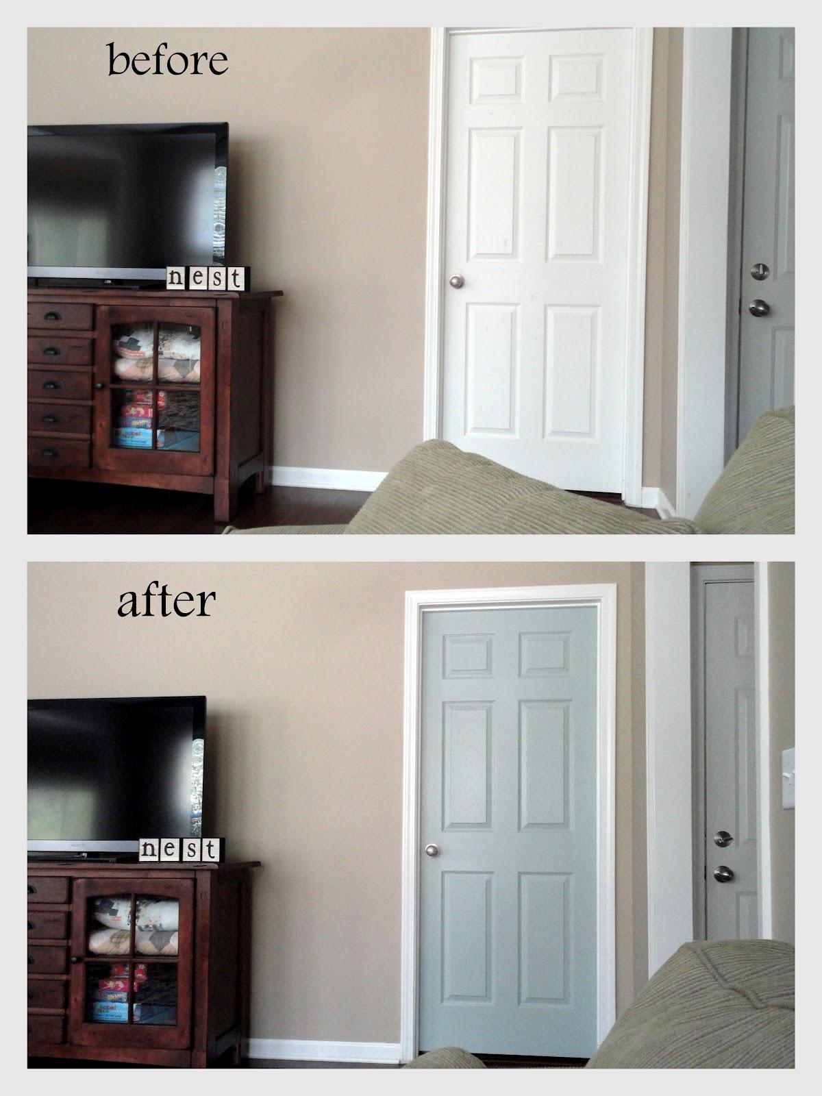 Pink Laundry Room Door