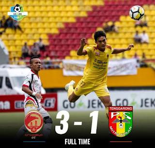 Sriwijaya FC menang 3-1 atas Mitra Kukar