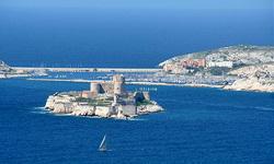 Vistas del Castillo de If en Marsella
