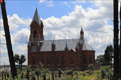 Ivianiec. Catholic church of St. Alexius. Side view