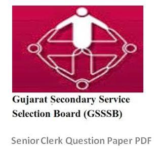 GSSSB Senior Clerk Question Paper