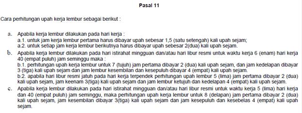 KEPMEN NO. 102 TH 2004 tentang ketentuan lembur