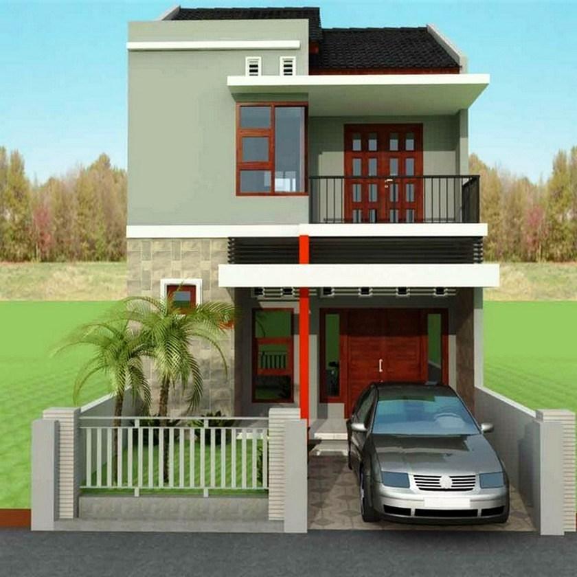 Desain Rumah Minimalis 2 Lantai Type 45 Modern