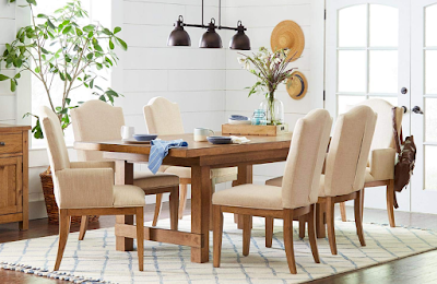 """Stone And Beam Bergen Tufted Dining Chairs, 38.6""""H, Set of 2, Hemp"""