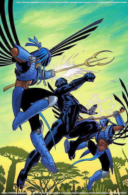 BLACK PANTHER #1 PANTERA NEGRA Número 1 By Ta-Nehisi Coates & Brian Stelfreeze - Desenhos Drawings Comics Revista em Quadrinhos - LUTA