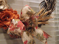 A FALL WREATH IN THE KITCHEN
