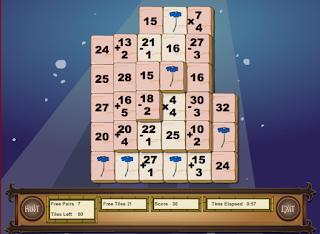http://www.sheppardsoftware.com/mathgames/mixed_mahjong/mahjongMath_Level_1.html