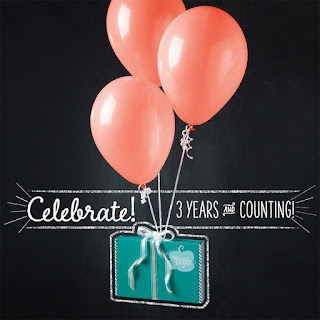 Balloons to Celebrate 3 years of Stampin'UP!'s Paper Pumpkin Monthly Craft Kits