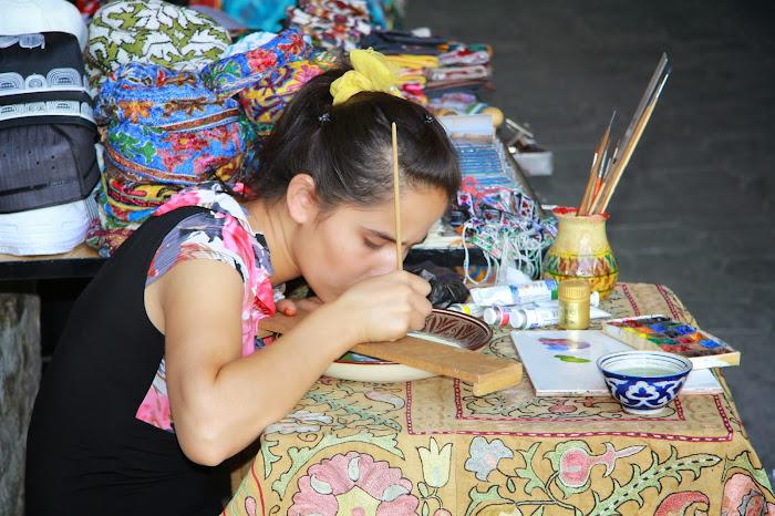 Ouzbékistan, Boukhara, Madina, miniaturiste, © L. Gigout, 2012