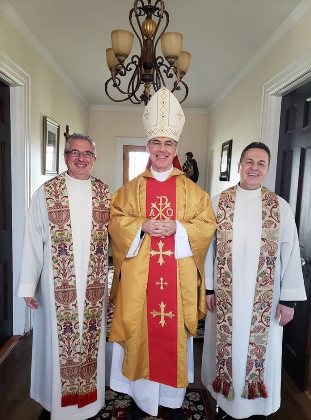 Charles John Brown, the Nuncio of the Pope in Albania welcomed in the Church of Our Lady of Shkodra
