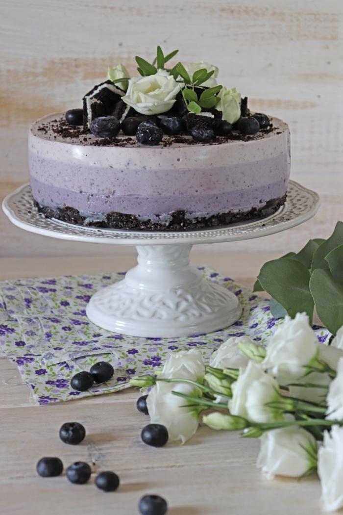 coconut-and-blueberry-cheesecake, ombre-cake, tarta-de-queso-con-arandanos
