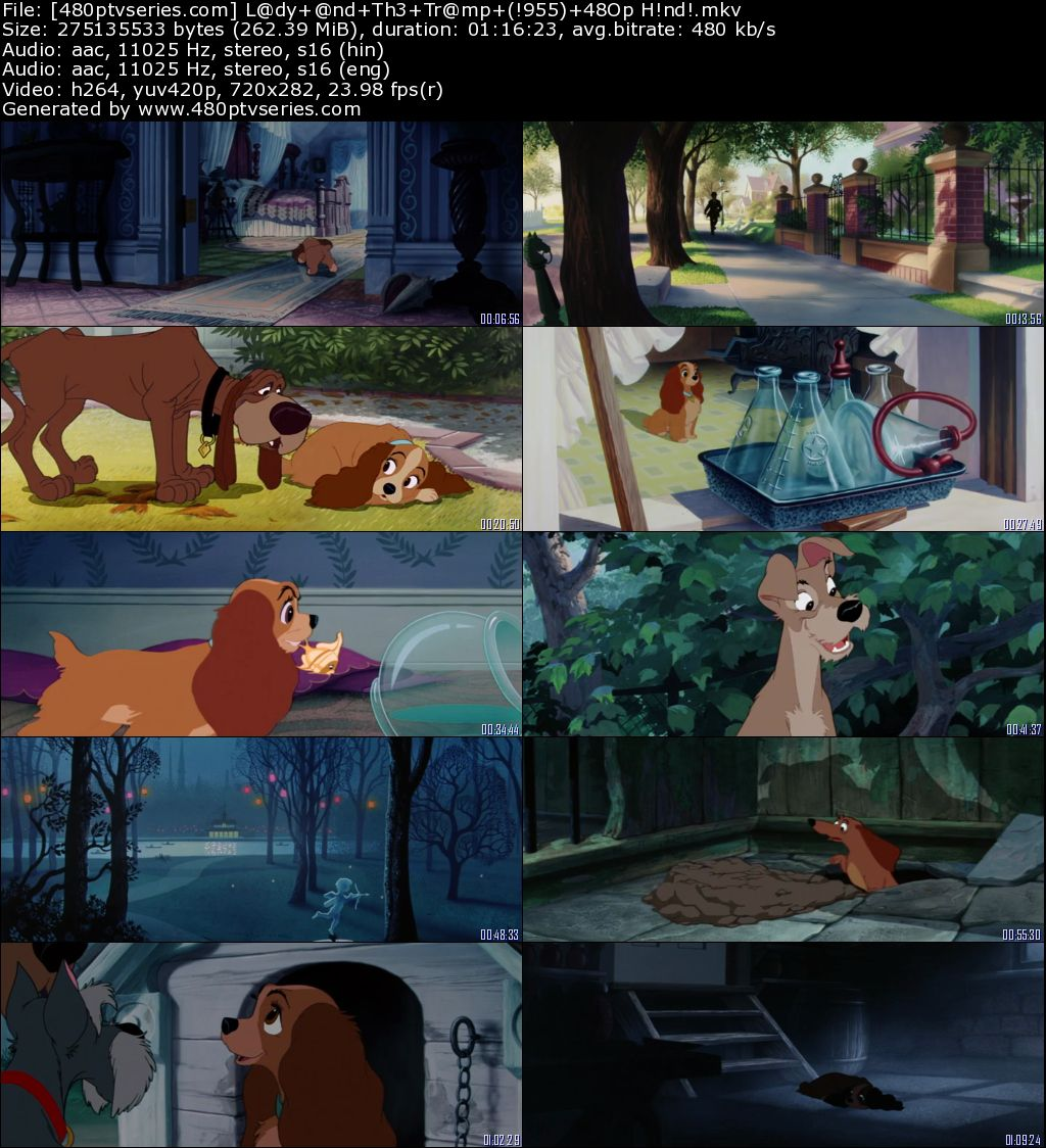 Lady and the Tramp (1955) 250MB Full Hindi Dual Audio Movie Download 480p Bluray Free Watch Online Full Movie Download Worldfree4u 9xmovies