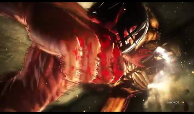 Attack on Titan 2 game screenshot from official teaser trailer