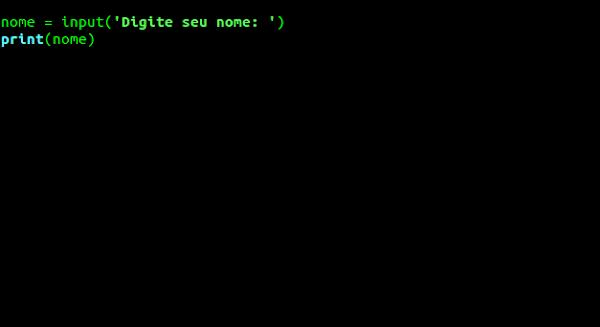 Captura entrada de dados com uma mensagem
