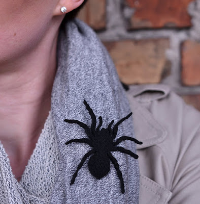 Black Spider Brooch