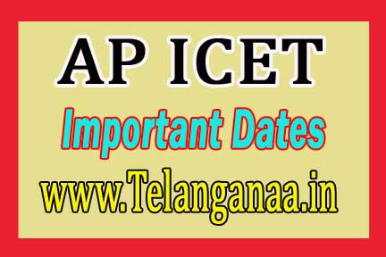 Andhra Pradesh AP ICET Important Exam Dates 2017