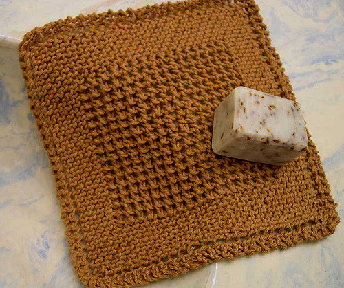 Sues Crochet And Knitting Diagonal Knit Dishcloth