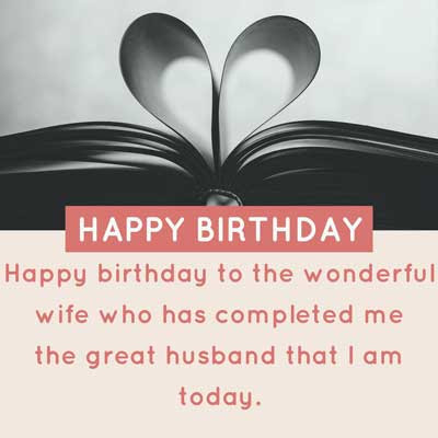 Happy birthday to the wonderful wife who has completed me the great husband that I am today. Happy Birthday!!!