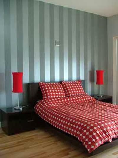 Decoracion actual de moda ideas para decorar y pintar las paredes a rayas - Decoracion paredes pintadas ...