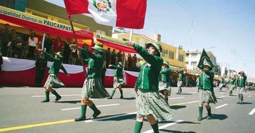 MINEDU se pronuncia sobre colegios que no participarán en desfile de Fiestas Patrias