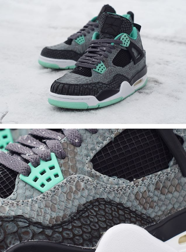 hot sale online 9cc1d 61253 THE SNEAKER ADDICT: Air Jordan 4 IV 'Python Green Glow' JBF ...