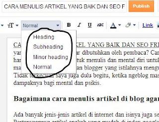 Tips menulis artikel seo