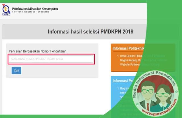 Pengumuman Kelulusan Hasil Seleksi PMDK-PN 2018/2019