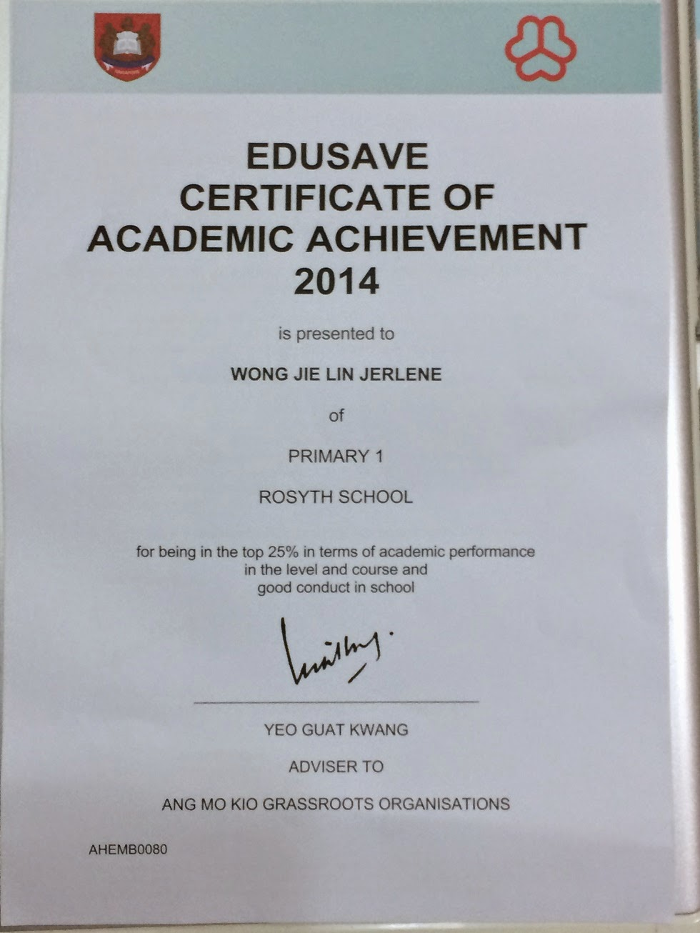 my little princess and prince 25 nov 2014 certificate of academic