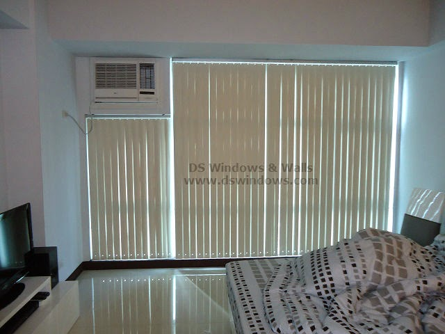 PVC Vertical Blinds installed in Bedroom at Highway Hills, Mandaluyong City Metro Manila