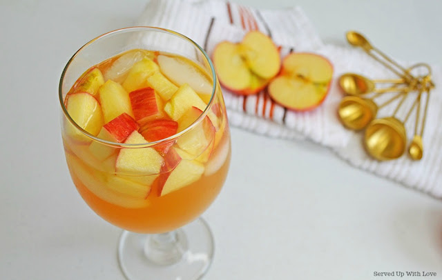 Caramel Apple Sangria recipe from Served Up With Love