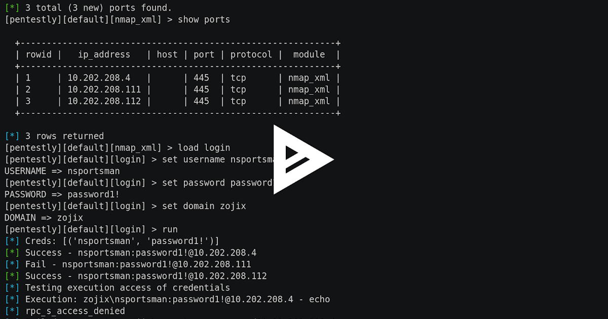 Pentestly - Python and Powershell internal Penetration Testing Framework