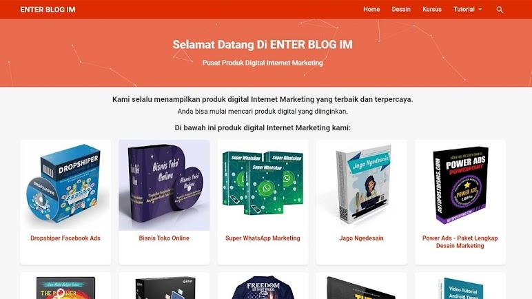 Template Premium Blogger Landing Page Affiliasi
