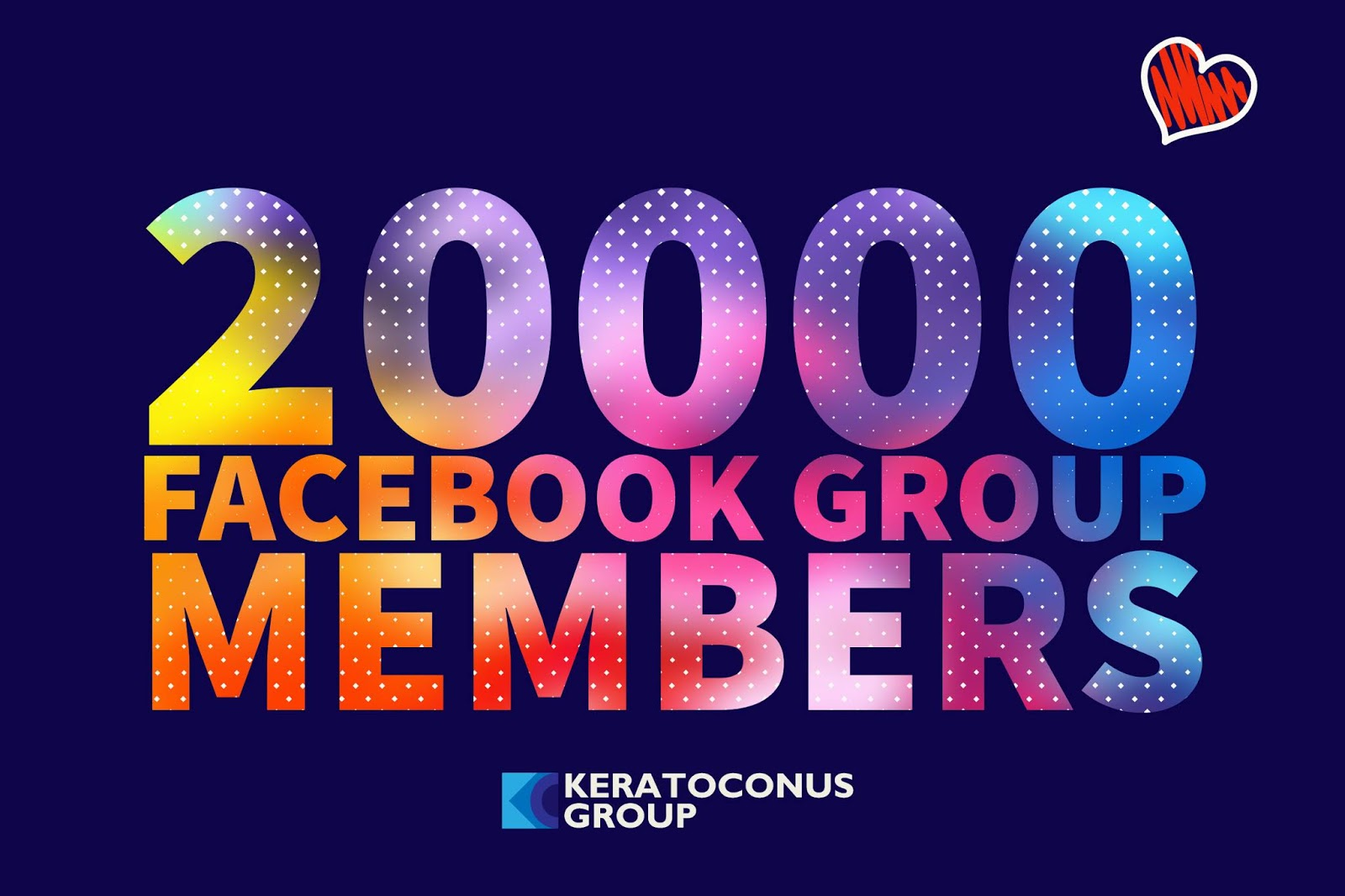 Keratoconus Group's private Facebook group now has more than 20,000 members