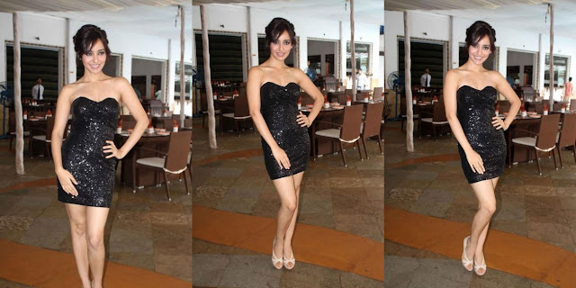 Neha Sharma's Black Mini-dress Photo-shoot