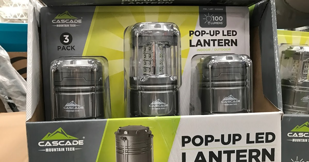 Cascade Mountain Tech Pop Up Led Lantern 3 Pack Costco